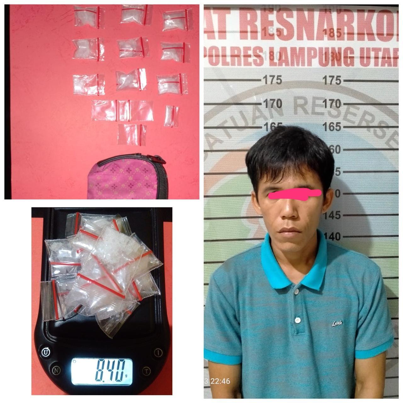 Satres Narkoba Polres Lampung Utara Ringkus Pengedar Sabu