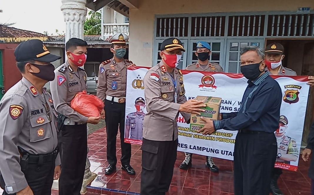 Polres Lampung Utara Gelar Anjangsana Ke Kediaman Personi, Purnawiran dan Warakawuri