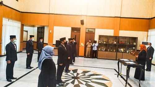 Bupati Bogor Ade Yasin Melantik 6 Pejabat Eselon II