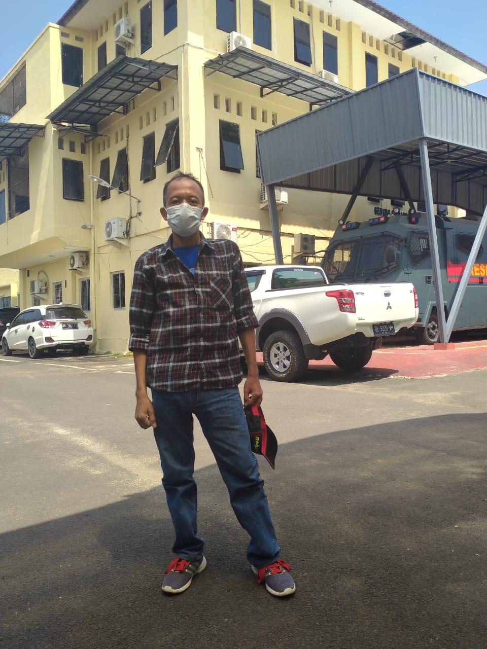 Surino Pertanyakan Prihal Laporannya di Polda Lampung