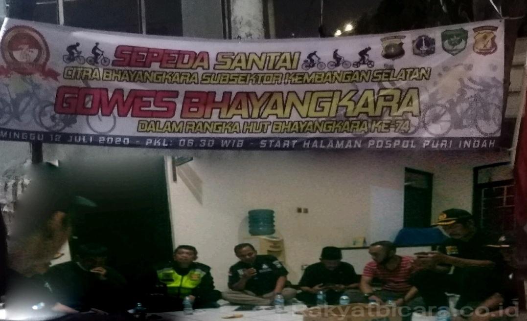 Ketua Subsektor CB Kembangan Selatan Gelar Persiapan Kegiatan Sepeda Santai Gowes Bhayangkara