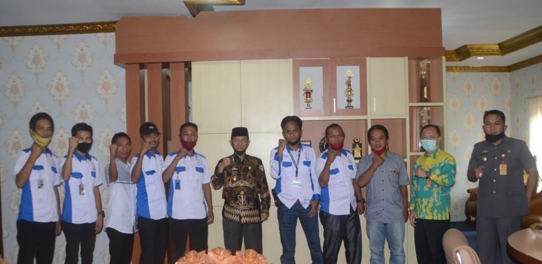Plt Bupati Budi Utomo MM Sambut Baik Kedatang Jajaran DPC PPWI Lampura