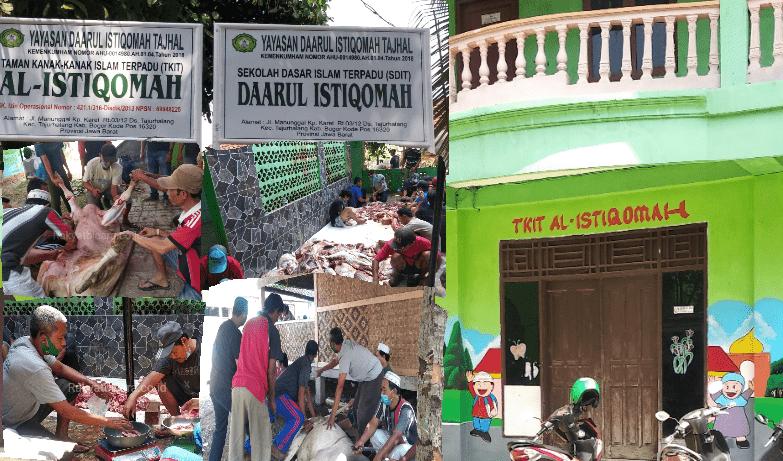 Yayasan Daarul Istiqomah Tajhal Salurkan 400 Bungkus Daging Qurban