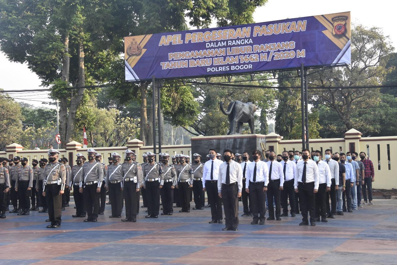 Polres Bogor Siapkan 10 SST Personil Gabungan Jelang Libur Panjang dan Tahun Baru Islam 1442 H