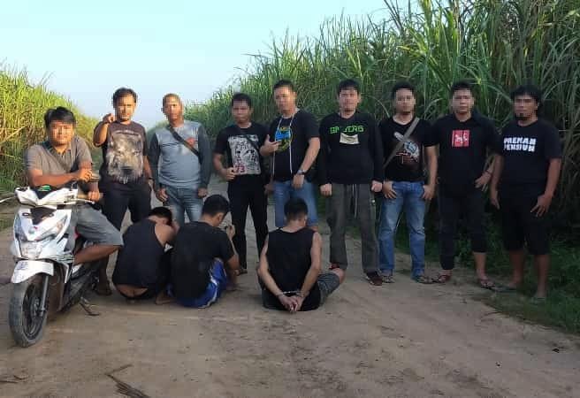 Komplotan Pelaku Curas di Areal PT. SIL Ditangkap Tekab 308 Polres Tulang Bawang