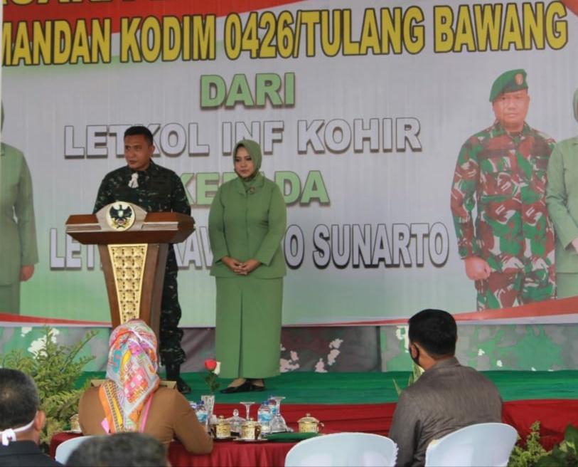 Dandim 0426 Siap Lanjutkan Program Dengan Pemerintah Daerah Kabupaten Tulang Bawang