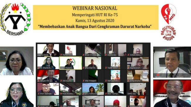 WEBINAR Nasional Memperingati HUT RI Ke – 75 Mencari Solusi Membebaskan Anak Bangsa