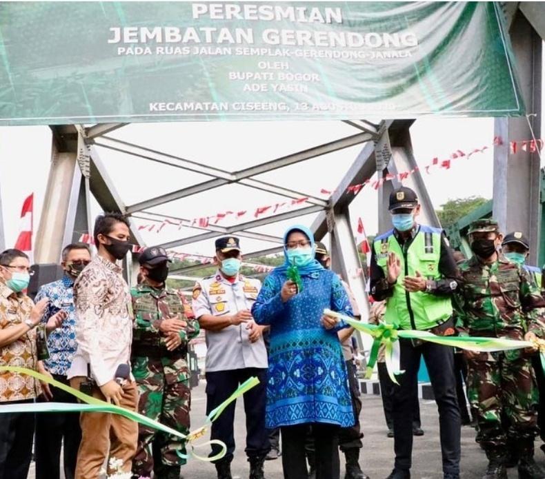 Bupati Bogor Meresmikan Jembatan Gerendong Rumpin