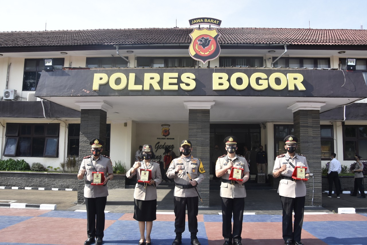 Jajaran Polres Bogor di Rotasi
