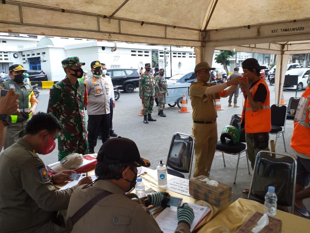 Gelar Operasi Yustisi, Tiga Pilar Lakukan Penerapan Penegakan Disiplin Protokol Kesehatan Di Wilayah Tamansari