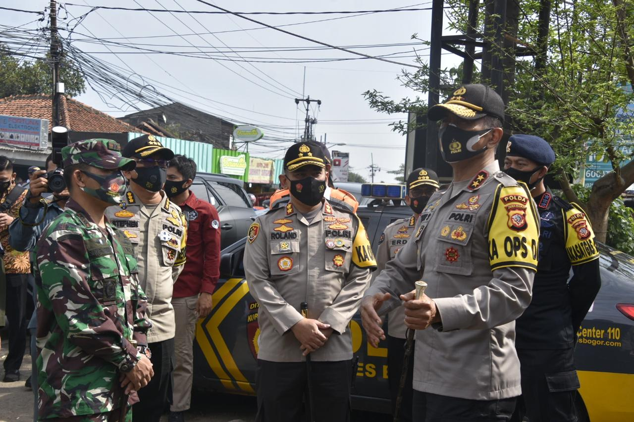 Kapolda Jabar tinjau Pelaksanaan Operasi Yustisi di Polres Bogor