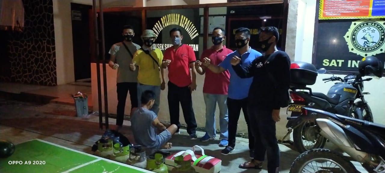 Polsek Sungkai Selatan Amankan Pelaku Curat yang Terekam CCTV
