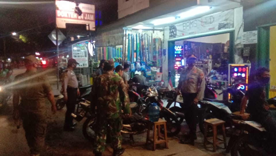 Ops Aman Nusa 2, Petugas Gabungan Kembangan Beri Himbauan dan Teguran Lisan