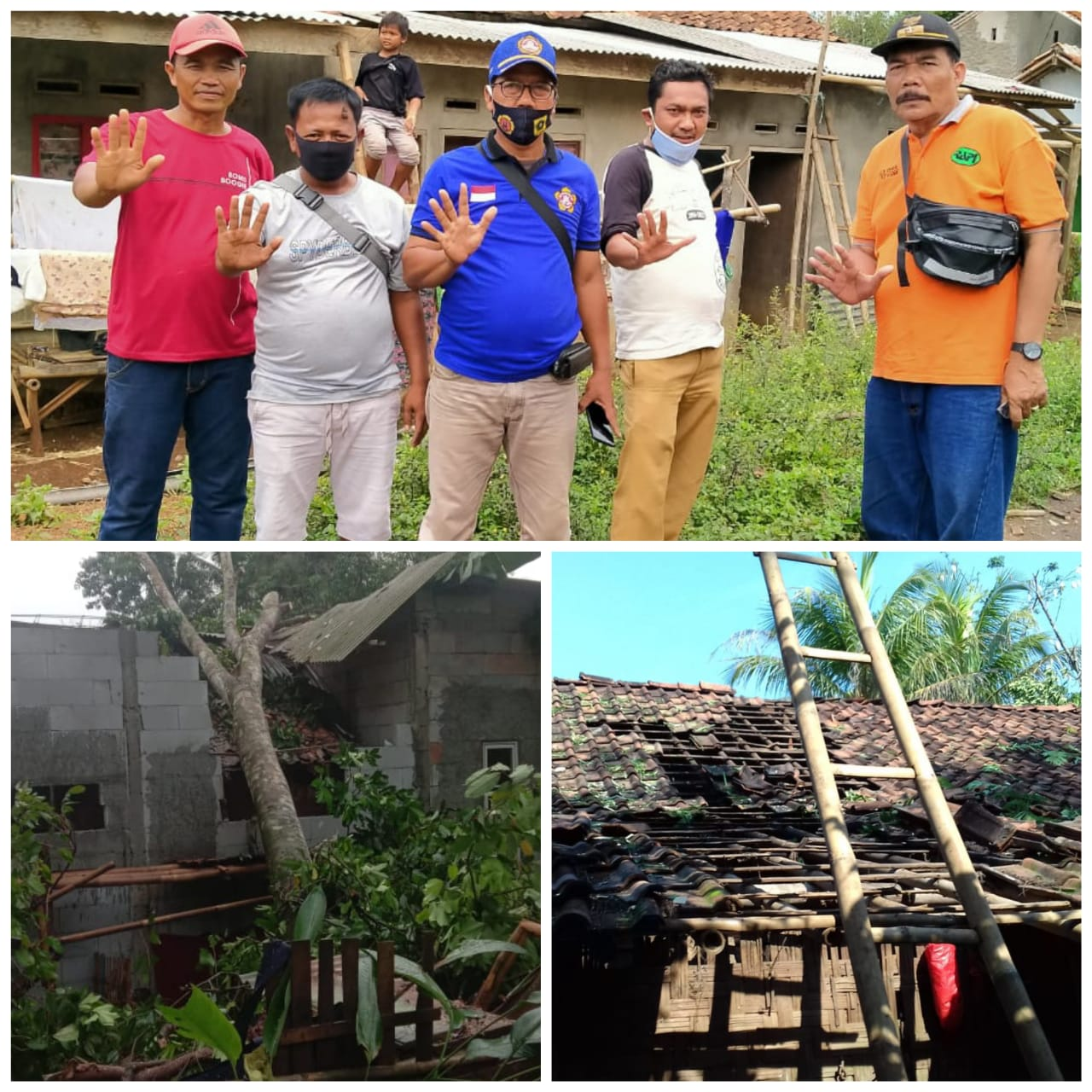 Kades Babakan Gotong Royong Perbaiki 21 Unit Rumah Rusak
