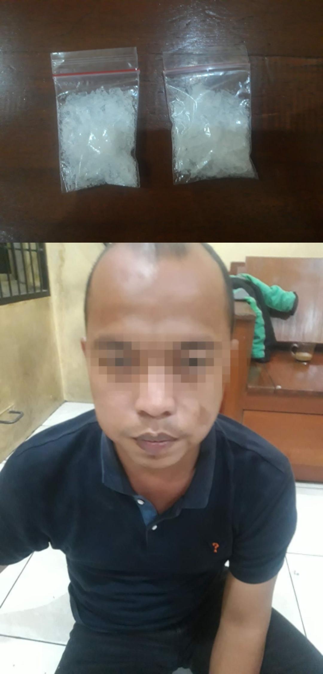 PSBB, Polsek Tambora Ringkus Bandar Narkoba 2 Paket Sedang Narkoba Jenis Sabu Di Sita