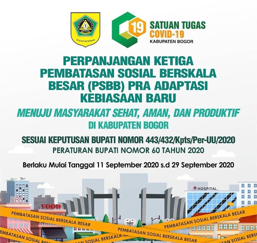PSBB PRA AKB Kabupaten Bogor, Masyarakat dan Pelaku Usaha Harus Tau Aturan ini