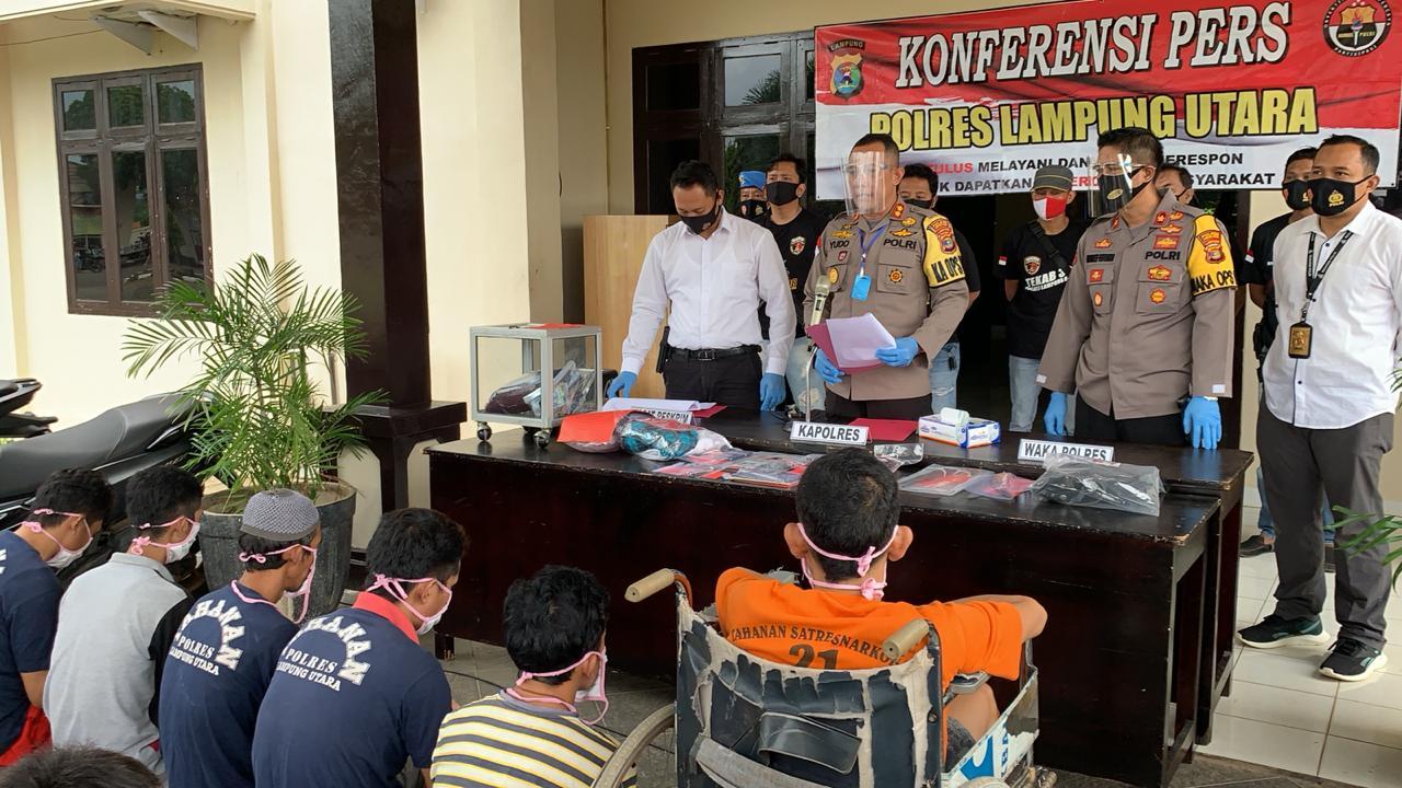 Polres Lampung Utara berhasil Mengungkap 38 kasus Tindak Pidana Dengan mengamankan 30 Orang Pelaku
