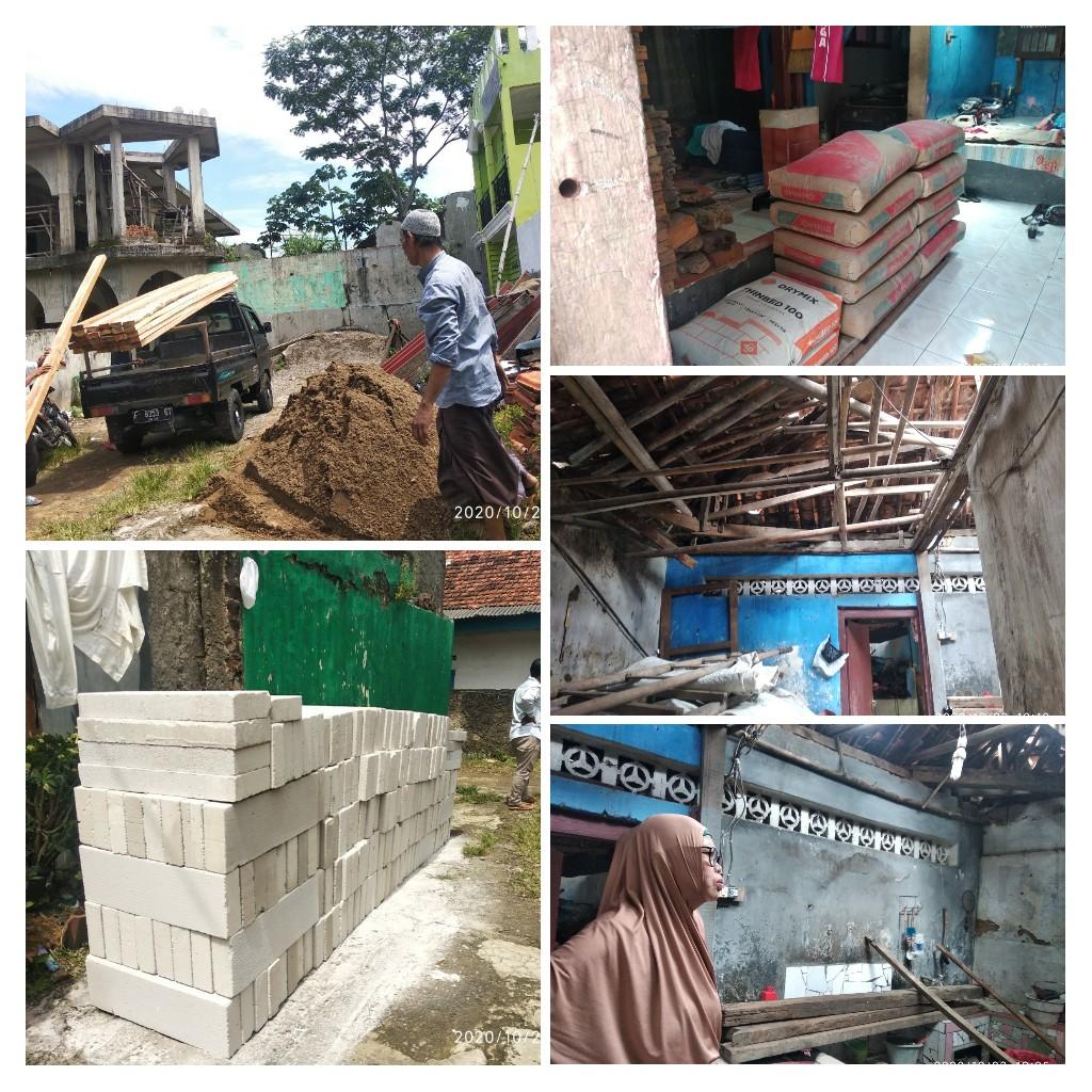 Ustadzah Awis, Alhamdulillah Bantuan Bahan Bangunan Oleh Orang Baik Turun