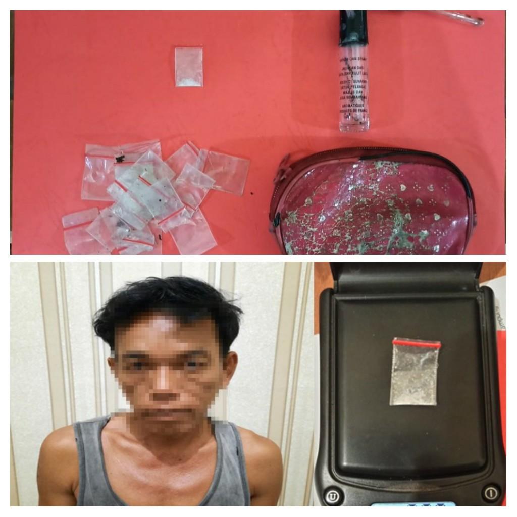 Jadikan Rumah Tempat Transaksi Narkotika, Seorang Petani Ditangkap Satresnarkoba TulangBawang