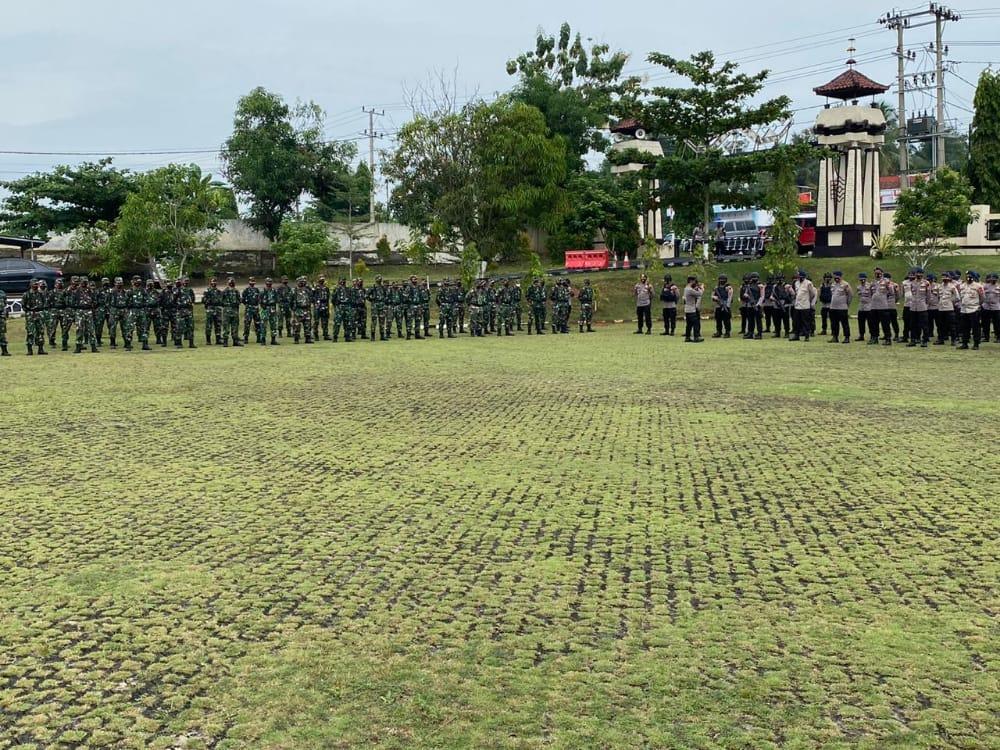 405 Personil Gabungan TNI Polri Amankan Aksi Damai Aniansi Masyarakat Lampung Utara Bergerak