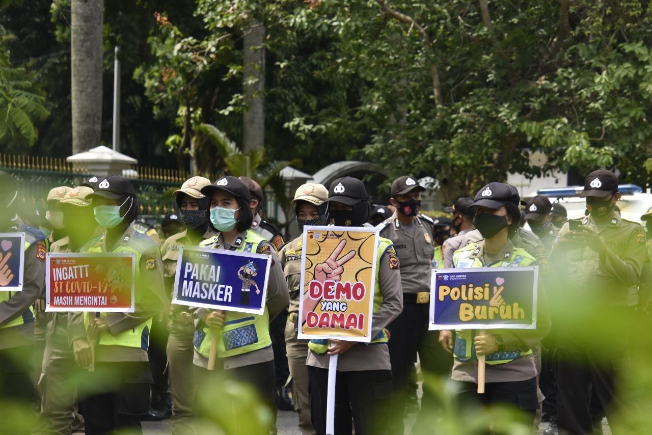 Polres Bogor Terjunkan1.017 Personil Dalam Pengamanan Aksi Demo Lanjutan