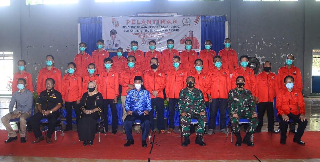 Bupati Budi Utomo Menghadiri Pelantikan Pengurusan Dewan Pimpinan Cabang DPC SPRI