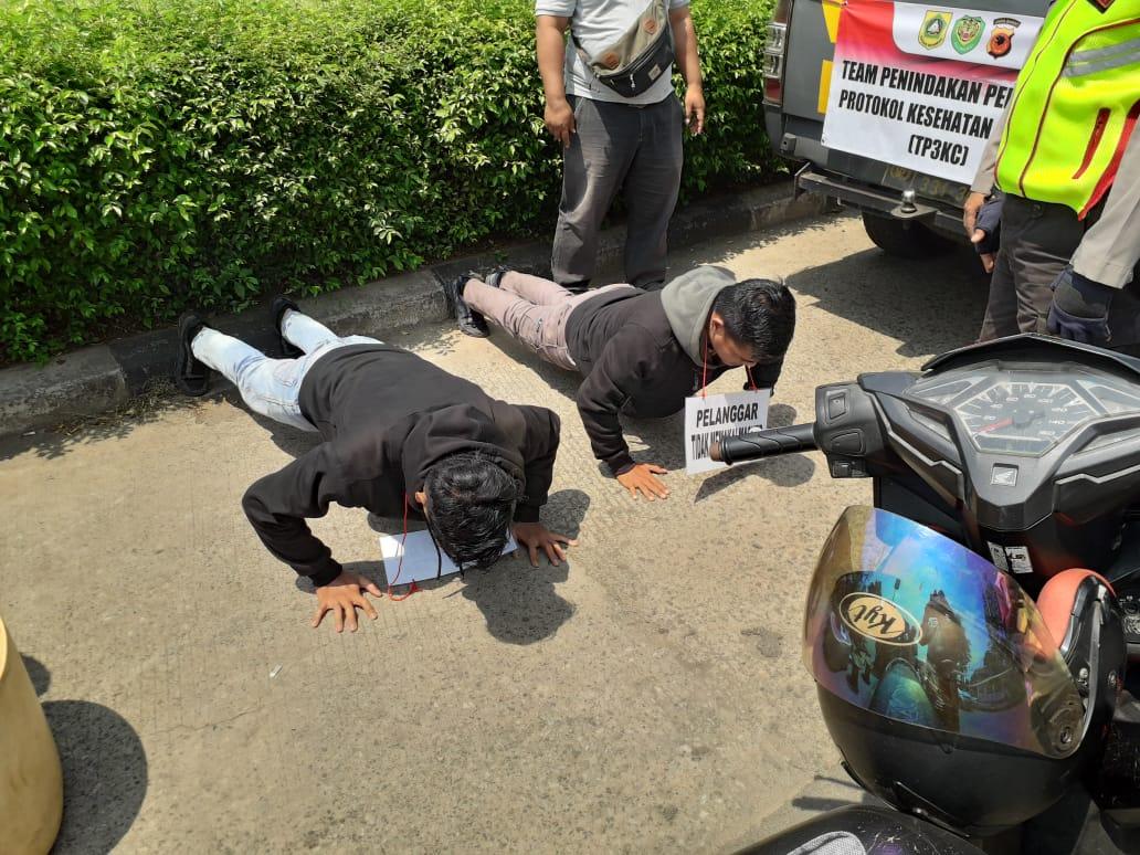Tidak Menggunakan Masker Siap-Siap Terjaring Ops Yustisi di Wilayah Cibinong