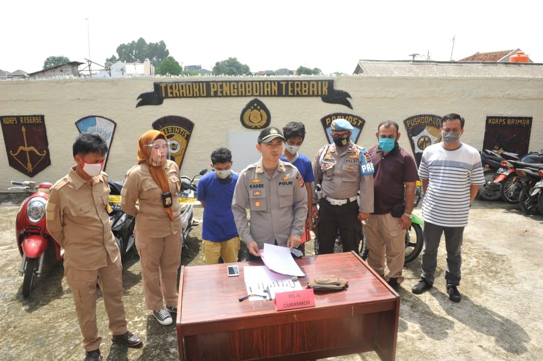 Unit Reskrim Polsek Cibinong Berhasil Bekuk 2 Pelaku Curanmor salahsatunya Residivis Bermodus Anak dibawah Umur