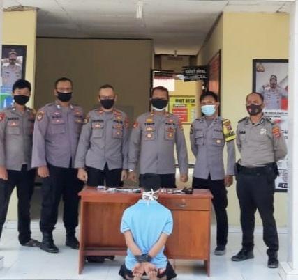 Bawa Senpi Ilegal dan Narkotika, Warga Mesuji Ditangkap Polsek Penawartama