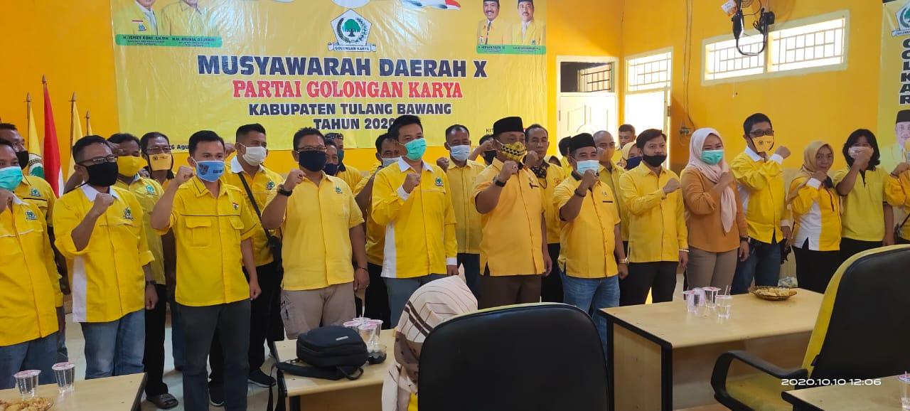 DPD II Partai Golkar Tulang Bawang Bagikan Surat Keputusan (SK) Dan Pembetukan Korwil Dapil
