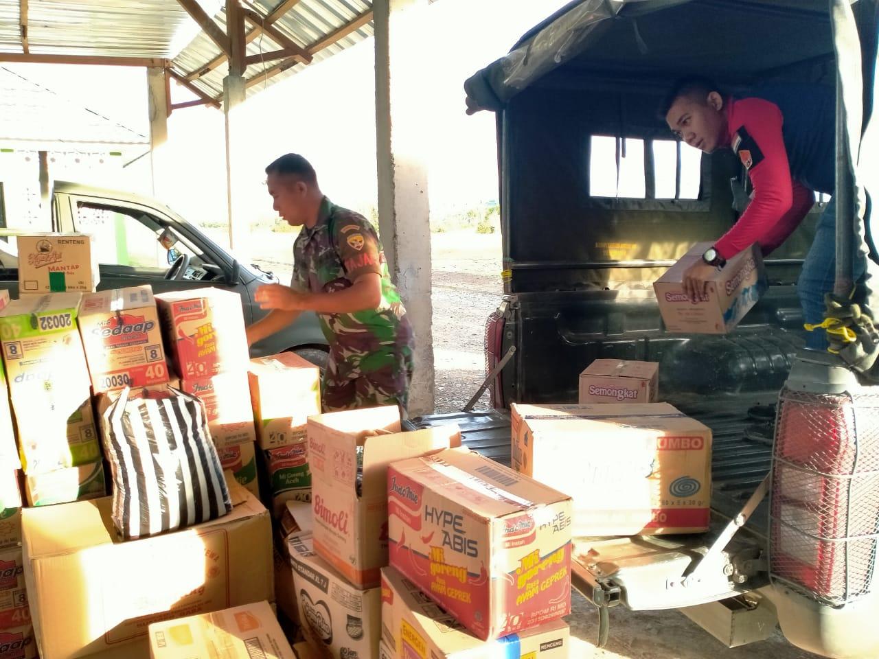 Peduli Korban Bencana Kebakaran Batu Rotok Kodim 1628/Sumbawa Barat Kirim Paket Bantuan