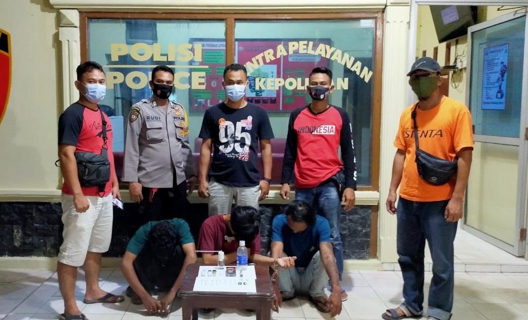 Polsek Banjar Agung Tangkap Tiga Pelaku Yang Sedang Asyik Pesta Narkotika