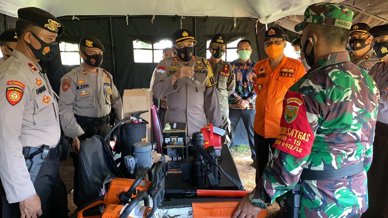 Antisipasi Bencana Alam, Polres Lampung Utara Gelar Apel Siaga Bencana