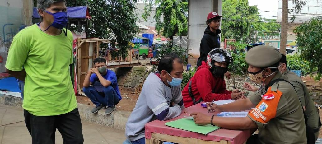 59 Pelanggar Protokol Kesehatan Terjaring di 4 Lokasi di Tambora Jakarta Barat