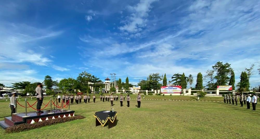 Kapolres Lampung Utara Pimpin Sertijab Kabag Sumda dan Kasat Lantas