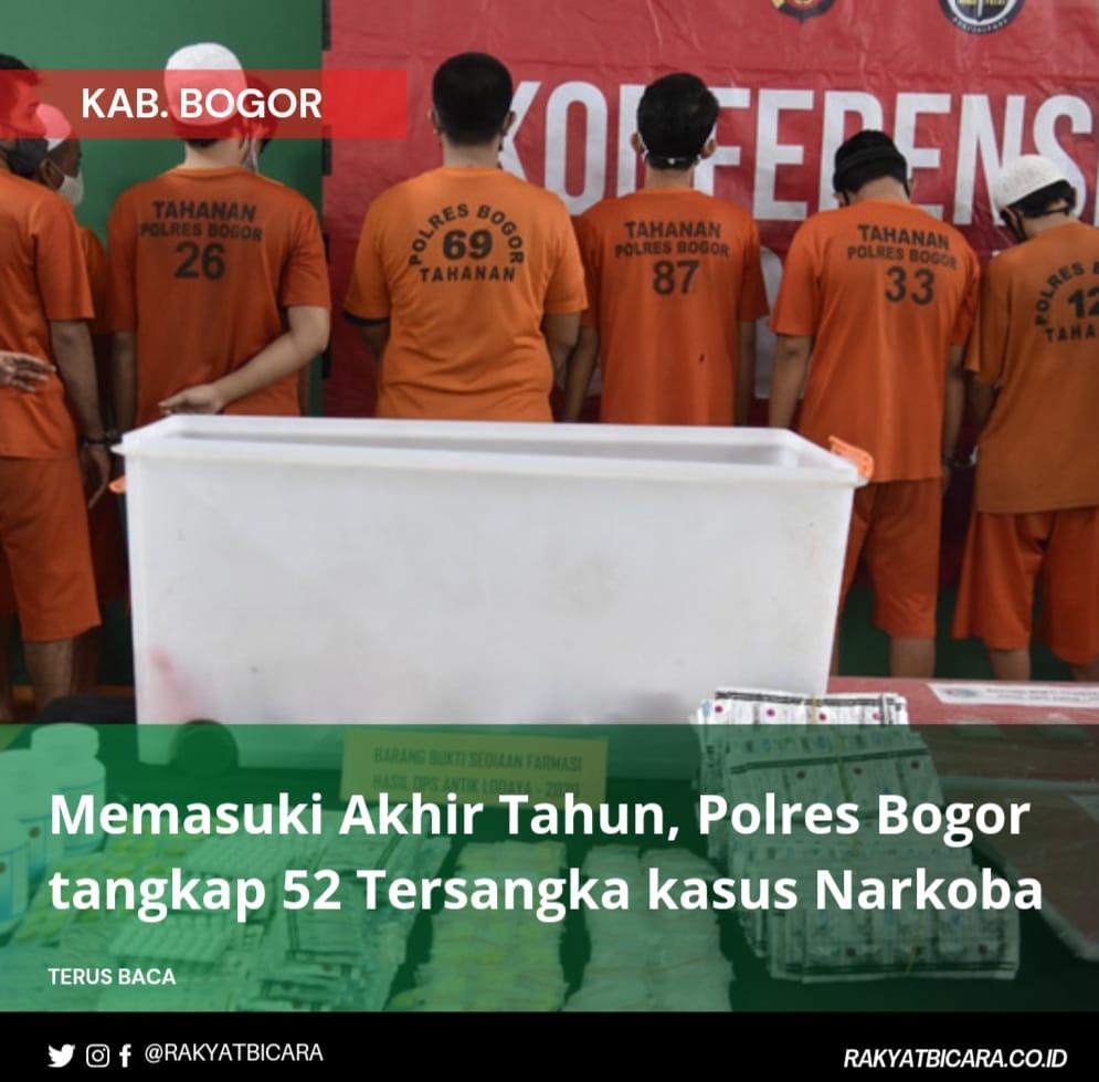 Polres Bogor Menangkap 52 Tersangka Narkotika dan Psikotropika dalam Operasi Antik Lodaya 2002
