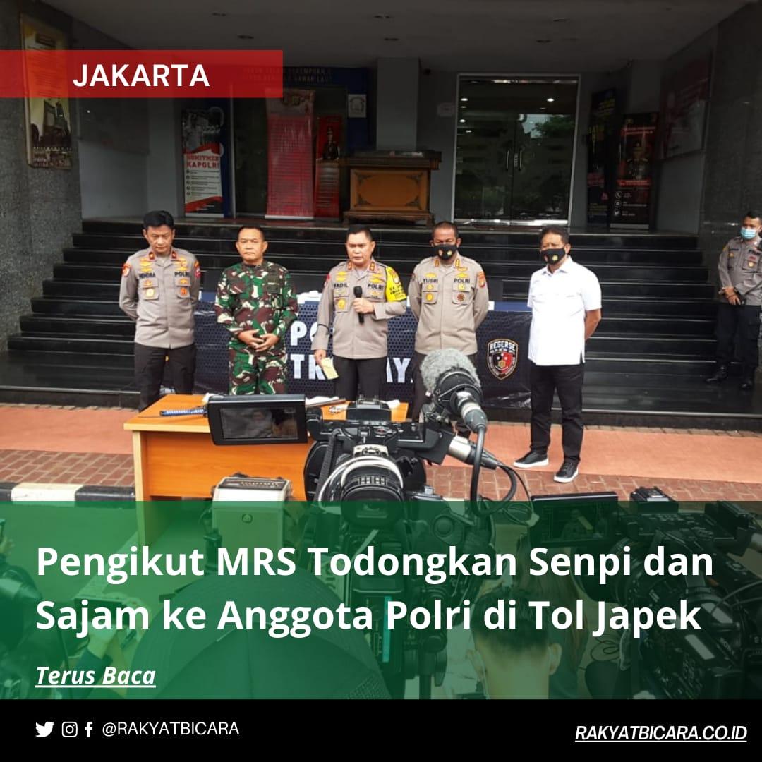 Pengikut MRS Todongkan Senpi dan Sajam Ke Anggota Polri di Tol Japek