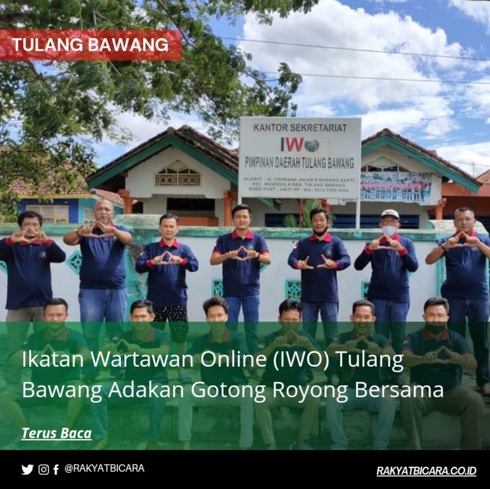 Ikatan Wartawan Online (IWO) Tulang Bawang Adakan Gotong Royong Bersama