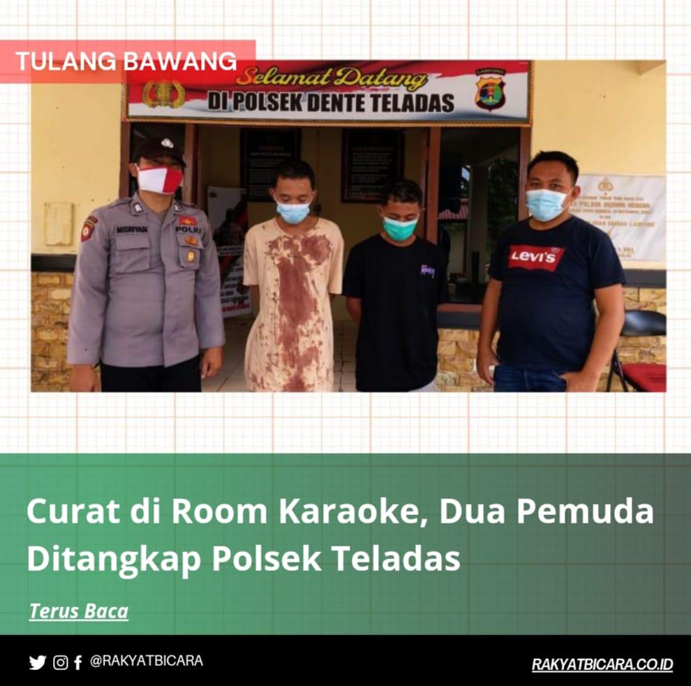 Curat di Room Karaoke, Dua Pemuda Ditangkap Polsek Dente Teladas