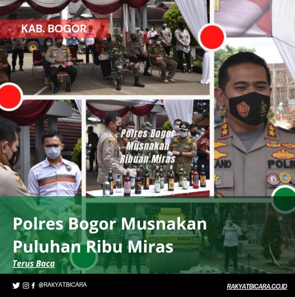 Polres Bogor Musnakan Puluhan Ribu Miras