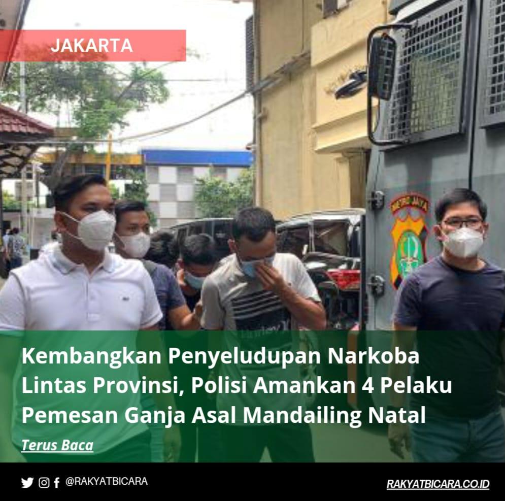 Kembangkan Penyelundupan Narkoba Lintas Provinsi, Polisi Amankan 4 Pelaku Pemesan Ganja Asal Mandailing Natal
