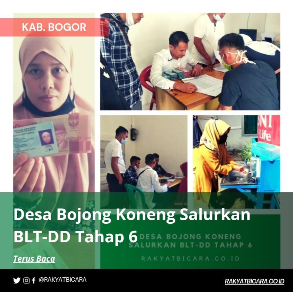 Desa Bojong Koneng Salurkan Bantuan Langsung Tunai (BLT-DD) Tahap 6