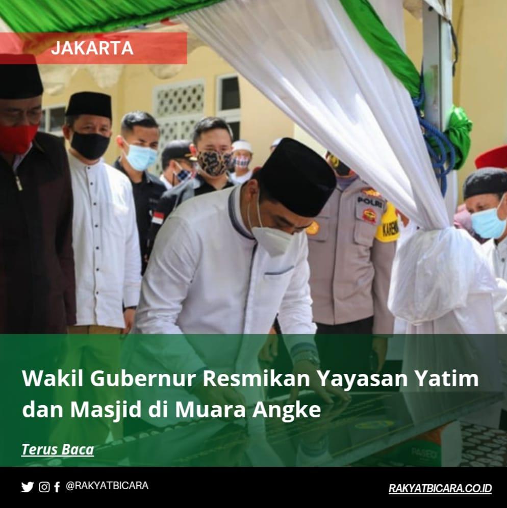 Wakil Gubernur Resmikan Yayasan Rumah Yatim dan Masjid Di Muara Angke