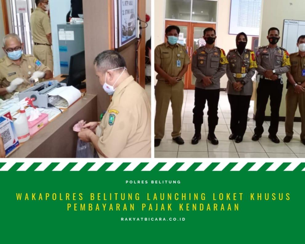 WakaPolres Belitung Launching Loket Khusus Pembayaran Pajak Kendaraan