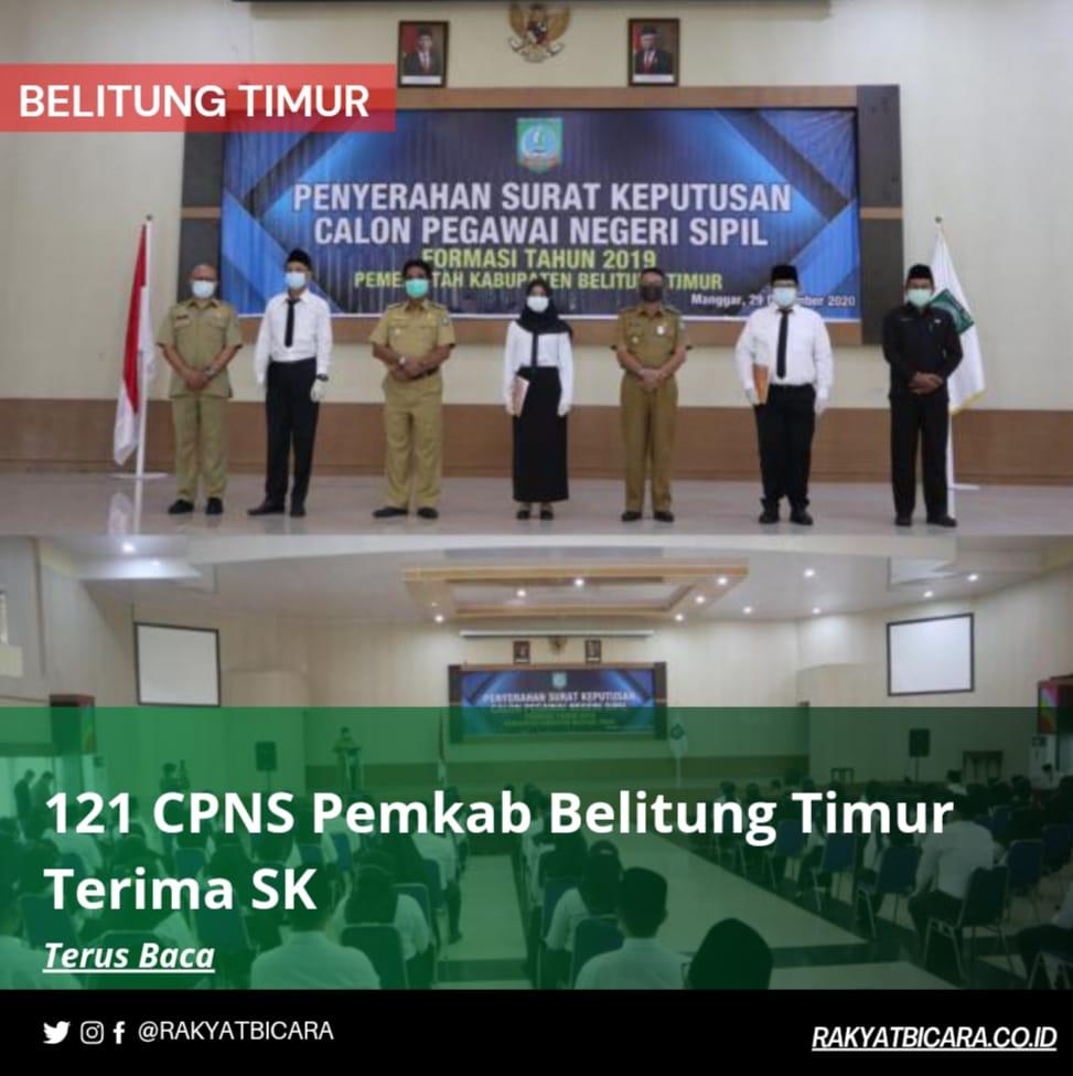 121 CPNS Pemkab Belitung Timur Terima SK