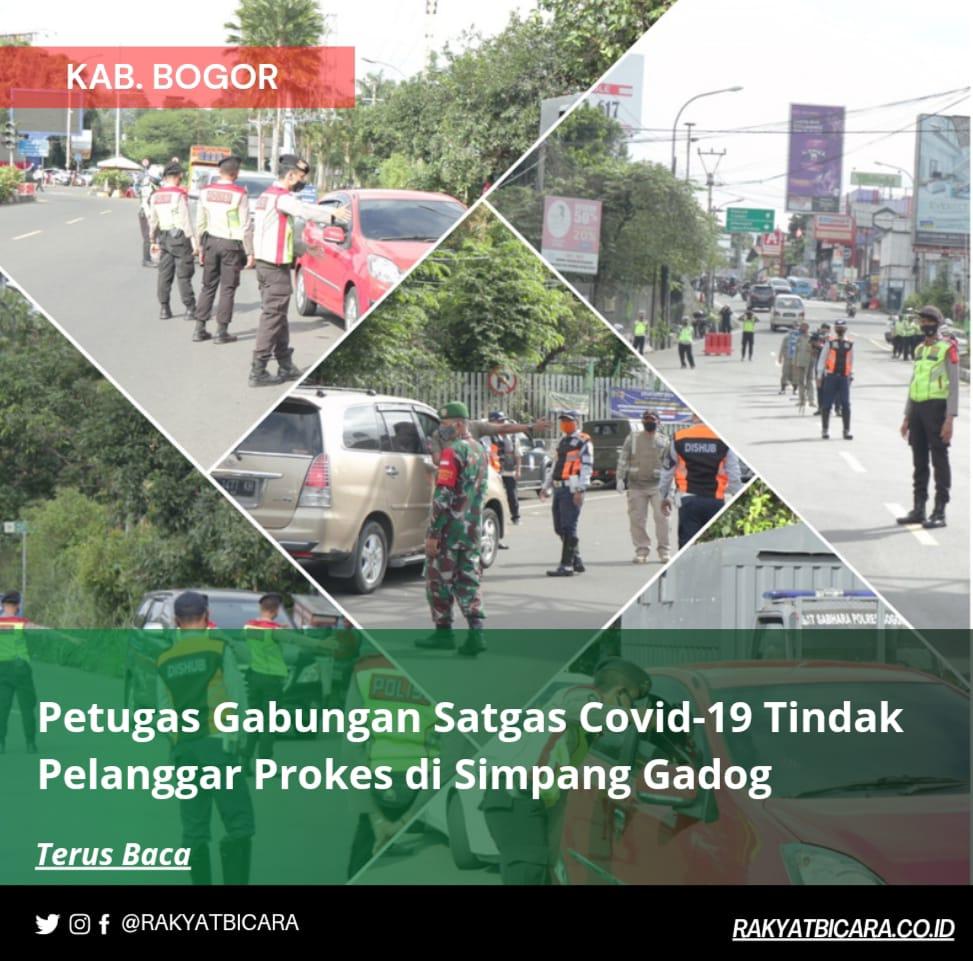 Polres Bogor Tindak Pelanggar Prokes di Simpang Gadog