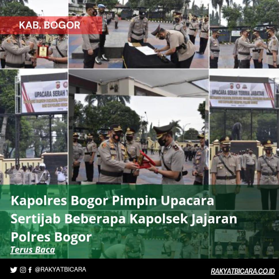 Kapolres Bogor Pimpin Upacara Sertijab Beberapa Kapolsek Jajaran Polres Bogor
