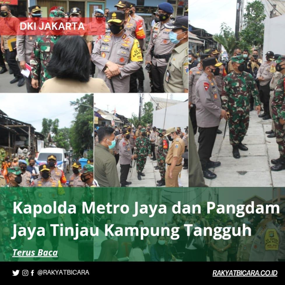 Kapolda Metro Jaya dan Pangdam Jaya Tinjau Kampung Tangguh