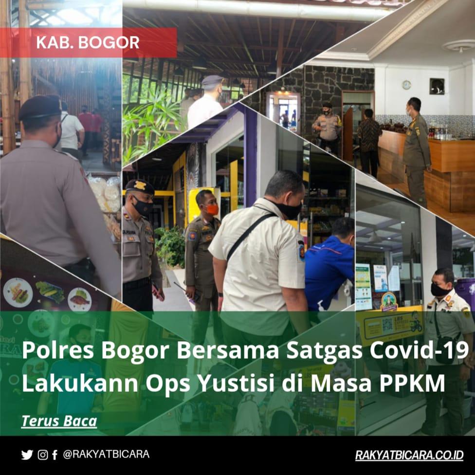 Polres Bogor Bersama Satgas Covid-19 Lakukan Ops Yustisi di Masa PPKM
