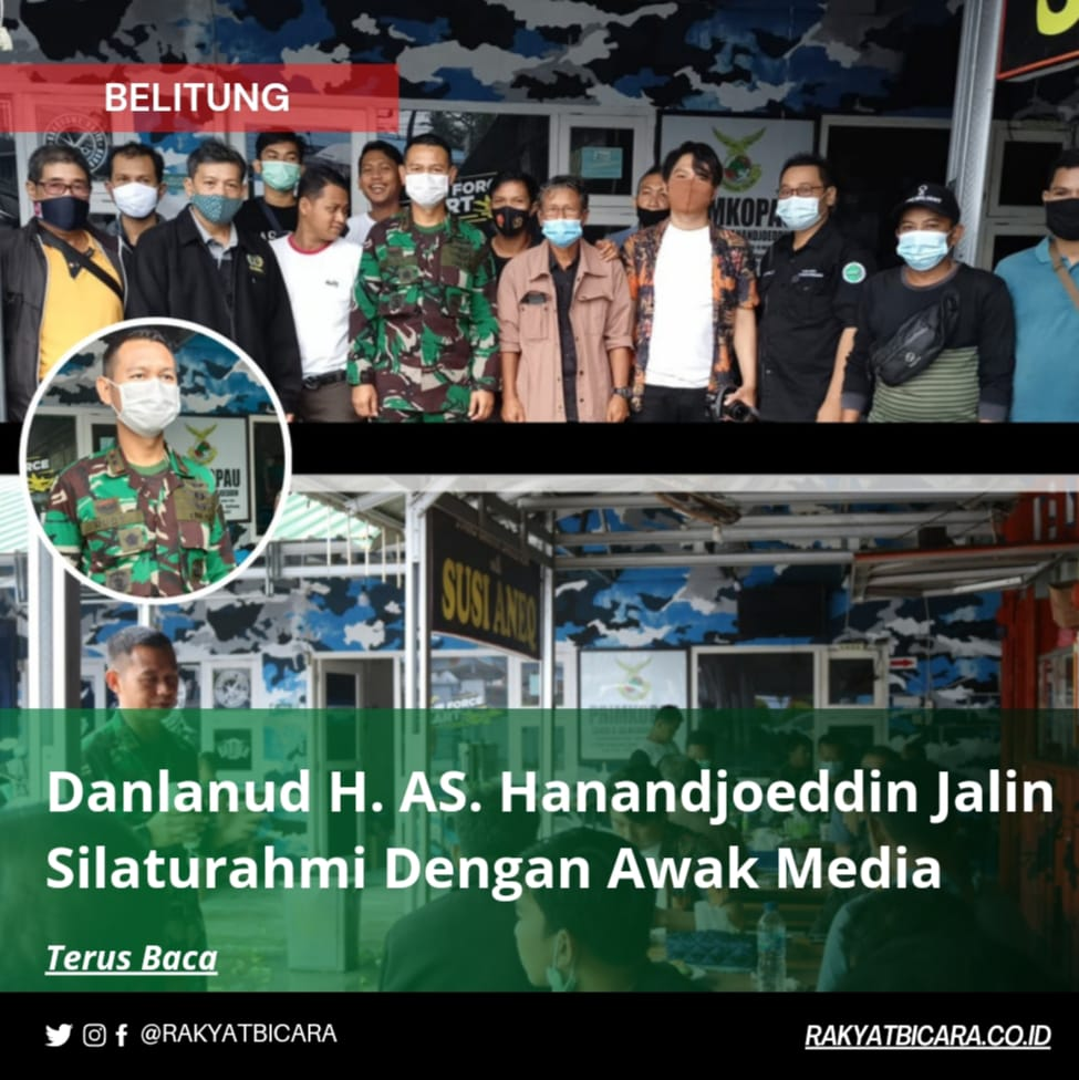 Danlanud H. AS. Hanand Joeddin Jalin Silaturahmi Dengan Awak Media